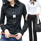 Long Sleeve Shirt Button Up Casual career apparel Womens Top US sz 0-6