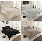 Elegant Embroidered Panel Duvet Cover Set with Soft Faux Silk Feel Material