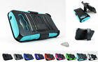 Samsung Galaxy Prevail LTE | Hybrid Armor Case Cover&Belt Clip Holster+PryTool