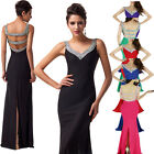Classy Long Prom Dresses Party Bridesmaid Women's slim Ball Gown Evening dresses