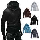 Men Spring Autumn Casual Hoodies Cotton Long Sleeve Coat Jacket Outwear M-XXXL