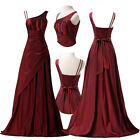 New Long Maxi Pleated Vintage Lady Formal Cocktail Banquet Evening Bridal Dresse