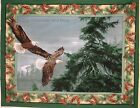 Eagle cotton quilting fabric panel or allover print *Choose design & size