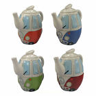 VW CAMPER VAN SHAPED TEAPOT & MUG SET SPLITTIE CERAMIC CUP RED BLUE GREEN ORANGE