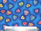 Hearts Love cotton quilting fabric *Choose design & size