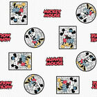 100%25+Cotton+Fabric+Disney%C2%A9+Vintage+Minnie+Mouse+Framed+Love+Mickey+Mouse