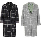 BRAND NEW URBAN MIST LADIES WINDOW CHECK  PRINT JERSEY BOYFRIEND  DUSTER COATS
