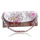 New Women's Wallet Shoulder Messenger Bag Flowers PU Leather with Chain Good Hot