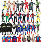 Superhero Boys Fancy Dress Comic Book Halloween Kids Childrens Costume Outfit