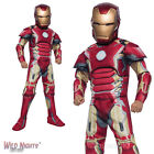 BOYS AVENGERS 2 DELUXE IRON MAN MARK 43 MARVEL SUPERHERO FANCY DRESS COSTUME