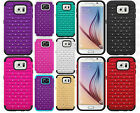 Samsung Galaxy S6 HYBRID IMPACT Dazzling Diamond Two Layered Case +Screen Guard