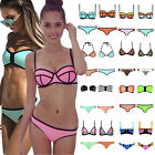 Sexy Women Waterproof Neoprene Triangle Bikini Push Up Padded Swimsuit Swimwear