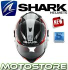 SHARK RACE-R PRO CARBON RACING DIVISION WHITE RED MOTORCYCLE RACING HELMET KWR
