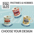 RETRO DINER STYLE MUGS *PASTIMES & HOBBIES - CHOOSE A DESIGN* BRAND NEW