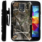 FOR SAMSUNG GALAXY PHONES HEAVY DUTY CASE COVER HOLSTER Natures Camo Black