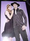 Black Flapper Costume Dress Adult S M L NWT