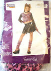 Sassy Cat Pink Black Child Costume Top Pants S M L NIP