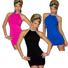 Fashion Women Sexy Halter Neck Evening Mini Dress Party Clubwear Reliable