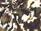 QUALITY CAMOUFLAGE Printed Anti Pil Polar Fleece Fabric Material - BROWN
