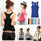CHIC Women Tank Top Racer Back Cami Vest T-Shirt Summer Singlet Camisole Sport