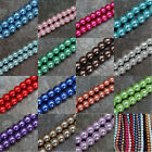 Wholesale Lots 23 Colors Loose Round Glass Pearl Spacer Beads 10mm