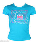 Ecko Red Turquoise Blue White Pink Fitted T Shirt Free UK Ship XS S M UK 6 8 10