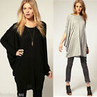 Fashion Women Casual Loose Long T Shirt Batwing Sleeve Over Size Blouse Tops New