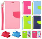 For Samsung Galaxy S6 Leather 2 Tone Wallet Case Pouch Flip Cover + Screen Guard