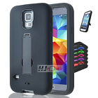 For LG Tribute SERIES Hybrid Hard Rubber w T Stand Case Cover Colors