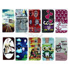 For Samsung Phone PU Leather Case Delicate Card Pocket Stand Holder Rubber Cover
