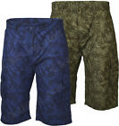 S34 Mens Cargo Hawiian Palm Tree  Combat 100% Cotton Summer Shorts