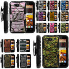 Armor Rugged Stand Belt Holster Clip Case for ZTE Speed N9130  Combo Camo Shell