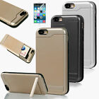 Card Pocket ShockProof Slim Hybrid Wallet Case Kickstand Cover For iPhone 6 4.7""