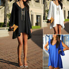 Sexy Women Style Chiffon Casual Party Evening Cocktail Short Mini Dress