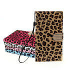 Diamond Leopard Leather Flip Wallet Case чехол For Samsung Galaxy Note 4 Trendy