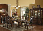 Vendome Collection Formal Dining Set Double pedestal hand carved