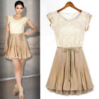 1PC Spring Summer Womens Court Style Retro Lace Sleeveless Vest Dress Reliable