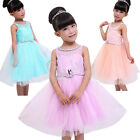 New Flower Girl Communion Pageant Wedding Bridesmaid Party Formal Tulle Dress