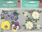 U CHOOSE  Jolee's PANSIES VANILLA FLOWERS 3D Stickers