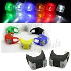 Front or Rear Bike Bicycle Safety Warning Frog Silicone 2-LED Light Lamp Colors