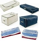 Underbed Jumbo Storage Chests Shoes Clothing Toys Laundry Bags Under Bed