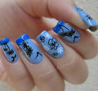 Nail Art Water Transfers Decals Stickers Hawaii Coconut Palm Shark HOT172-174