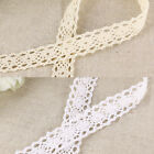 10m Vintage Style Cotton Crochet Lace Edge Trim Ribbon Sewing Ivory/White