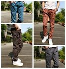 Men's Casual Harem Baggy Hiphop Jogger Pants Tapered Drop Crotch Cuffed Trousers