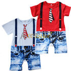 New Baby Boy Toddler One Piece Gentleman Bodysuit Jumpsuit Romper Outfit Clothes