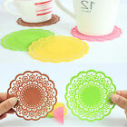 Chic Newest Jelly Silicone Lace Flower Coaster Pad Cushion For Beverage Cup Mug