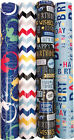 3m Roll Modern Blue & Black Gift Wrap Wrapping Paper
