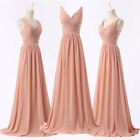 FREE SHIP Long Bridesmaid Cocktail Formal Party Prom Dress Wedding Gown Dresses