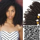 3 Bundles Afro Kinky curly Hair Weave Virgin Peruvian Human Hair Extension Weft