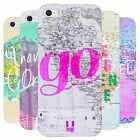 HEAD CASE WANDERLUST STATEMENTS SILICONE GEL CASE FOR APPLE iPHONE 5S